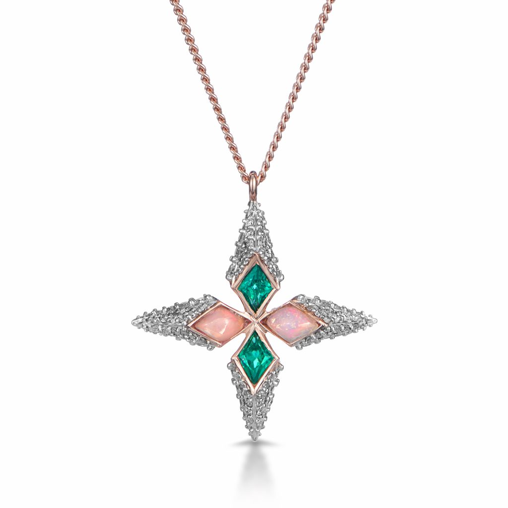 Trinity Necklace in Rose Gold by Leyla Abdollahi