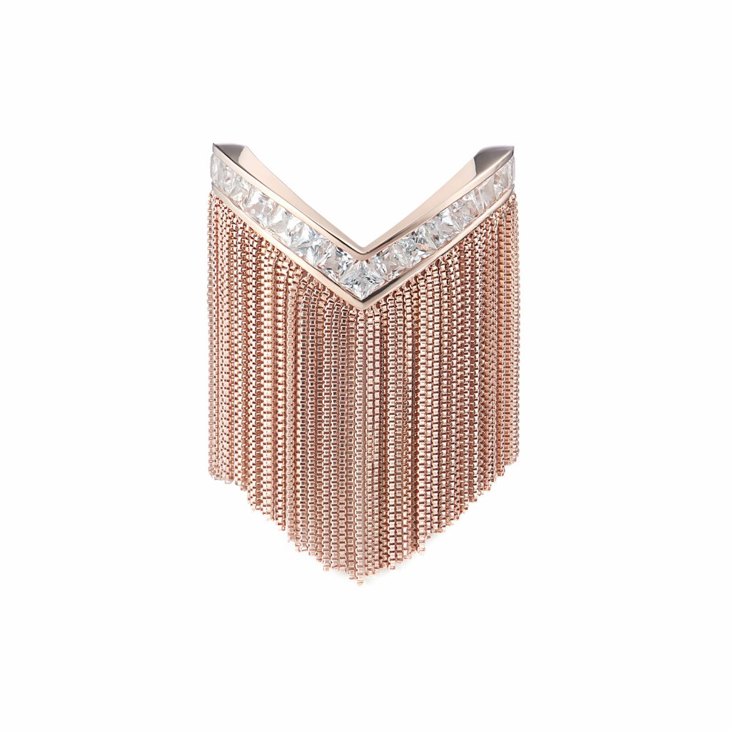 Trinity Ring in Rose Gold by Leyla Abdollahi