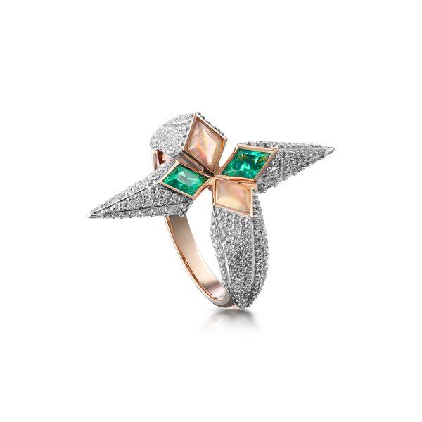Trinity Ring in Rose Gold by Leyla Abdollahi