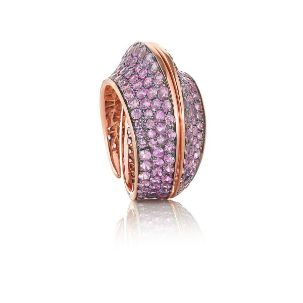 Spira Ring with Pink Sapphires by Lily Gabriella
