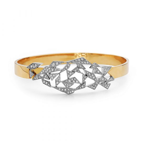 Asymmetrical Shards Bracelet by Swati Dhanak