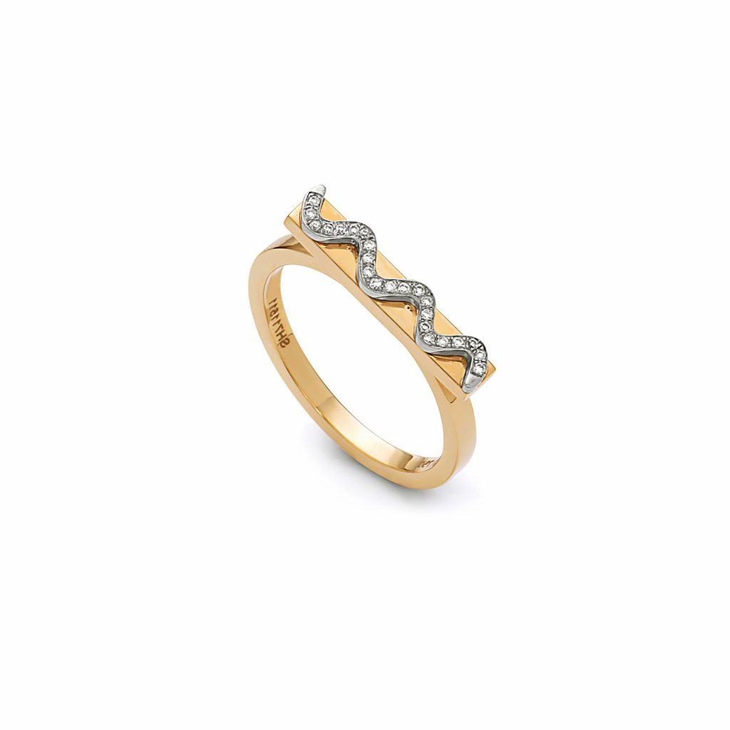 Bar Movement Ring by Swati Dhanak