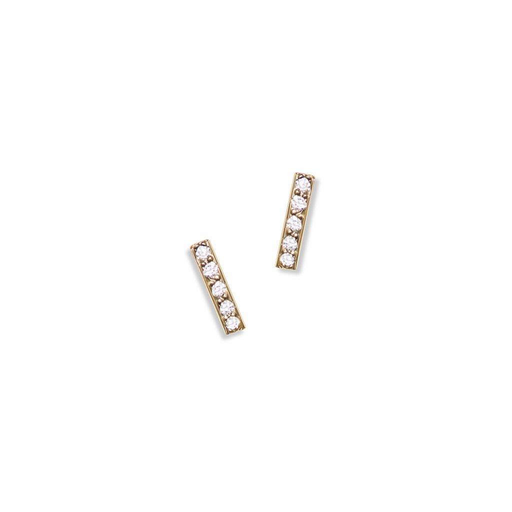 Charlotte Mini Pave Studs with White Diamonds by Selin Kent