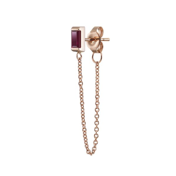Galana Chain Stud with Ruby by Selin Kent