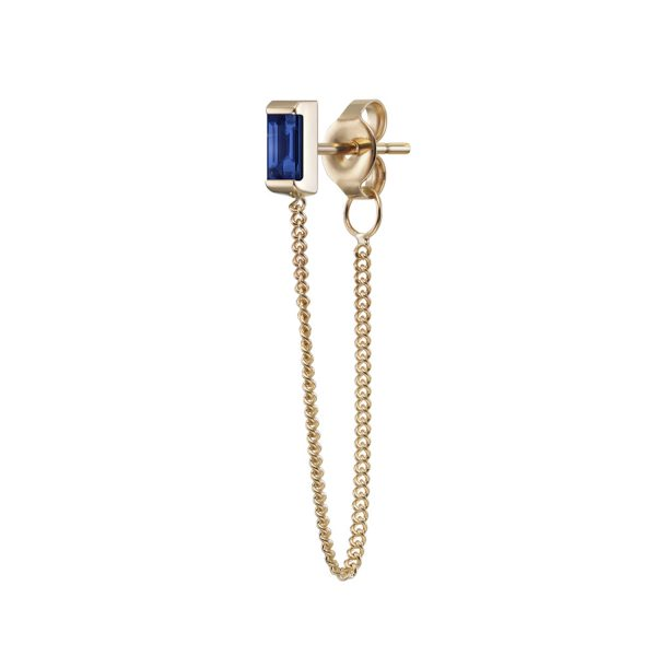 Galana Chain Stud with Sapphire by Selin Kent