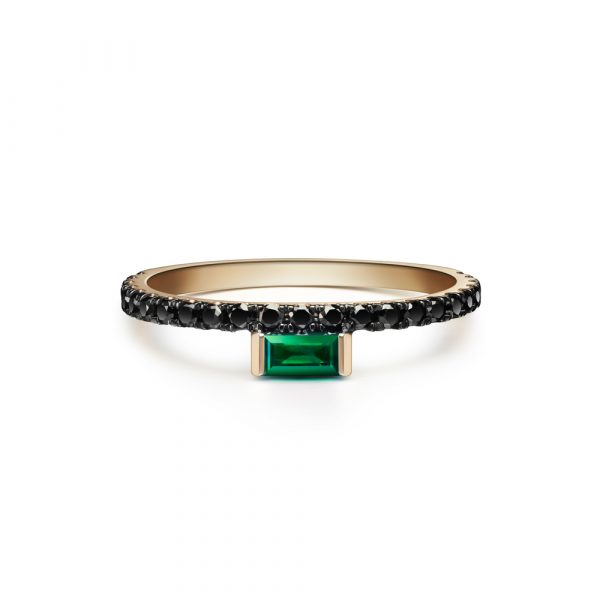 Nikita Ring with Emerald by Selin Kent