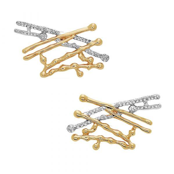 Cross Splatter Earrings by Swati Dhanak