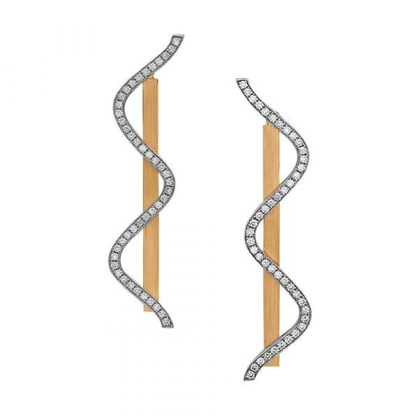 Hanging Movement Earrings by Swati Dhanak