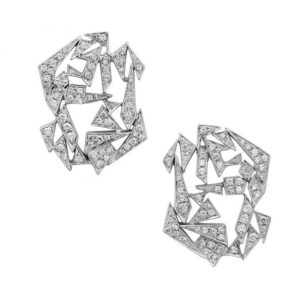 Floating Shards Earrings by Swati Dhanak