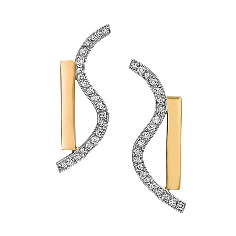 Wave Movement Earrings by Swati Dhanak