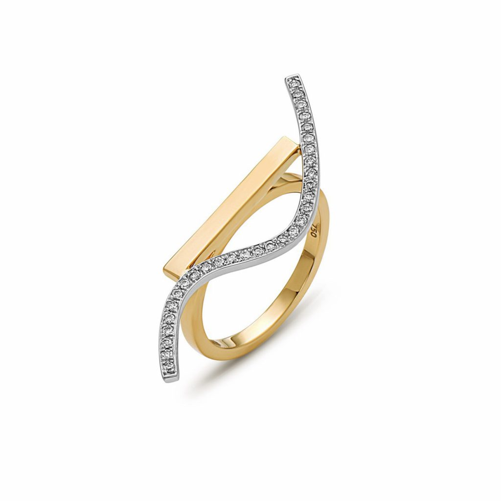 Wave Movement Ring by Swati Dhanak