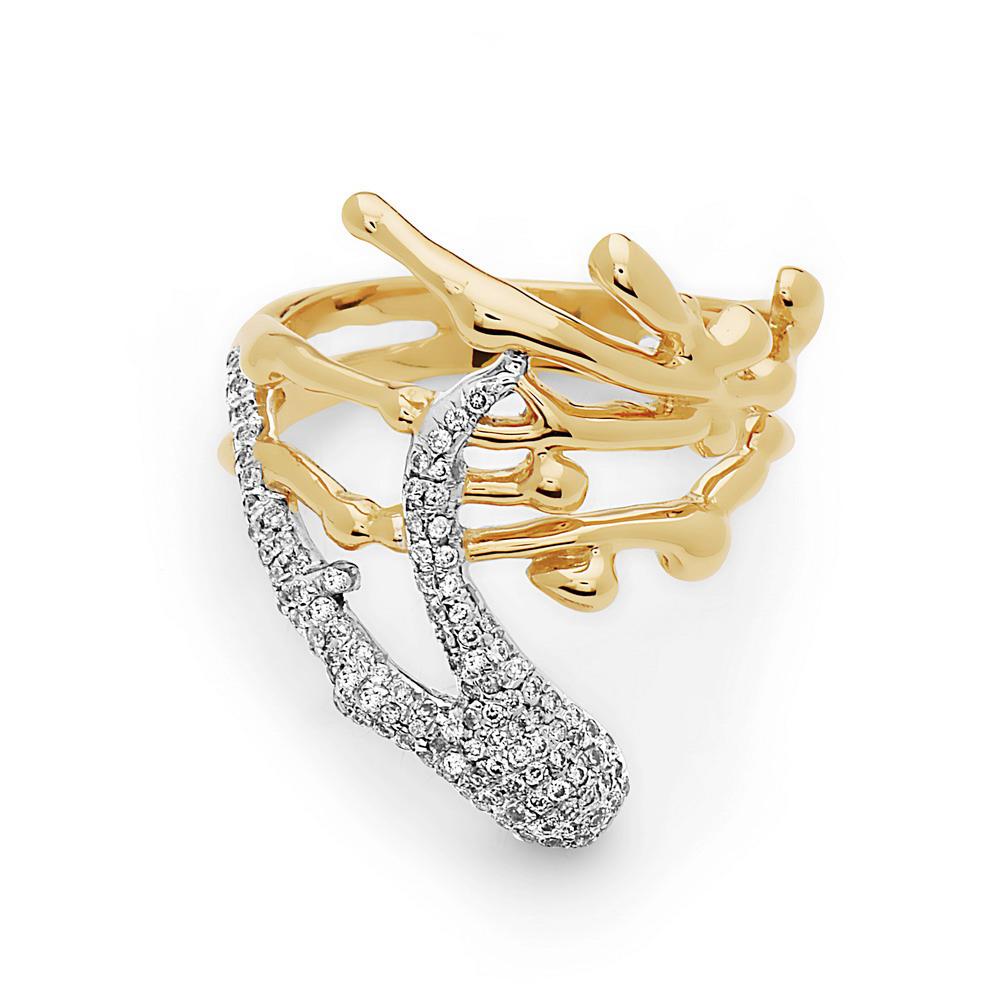 Feature Splatter Ring by Swati Dhanak