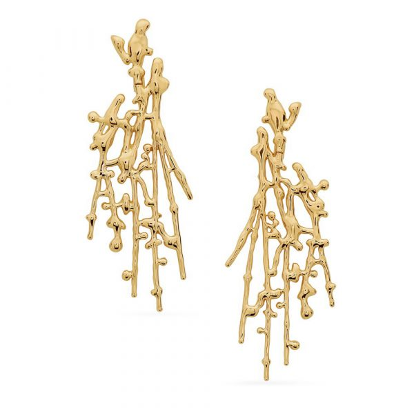 Large Splatter Earrings – Gold by Swati Dhanak