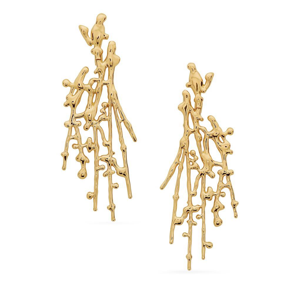 Large Splatter Earrings – Gold by Swati Dhanak