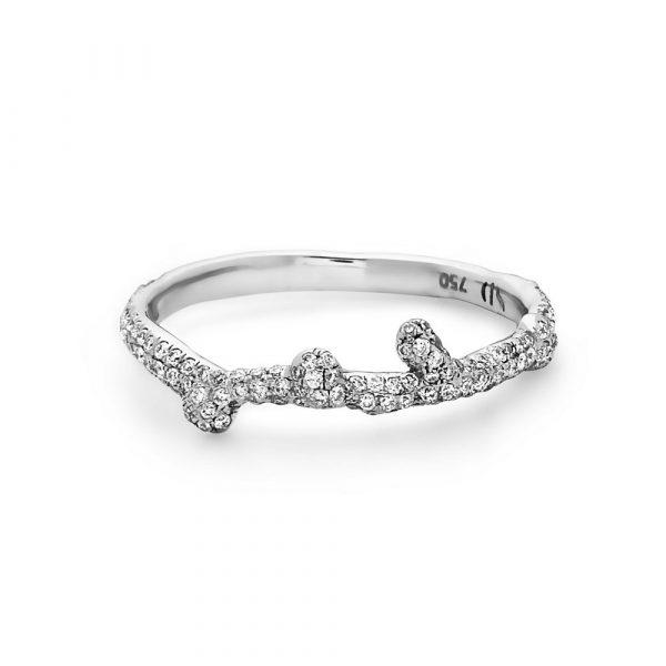 Thin Splatter Ring by Swati Dhanak
