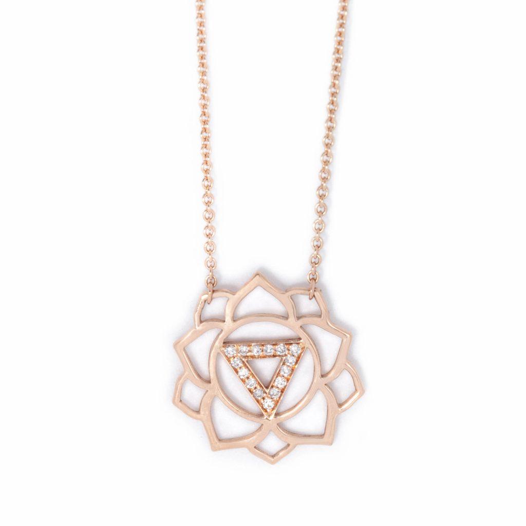 Manipura Paved Diamonds Necklace by tinyOm