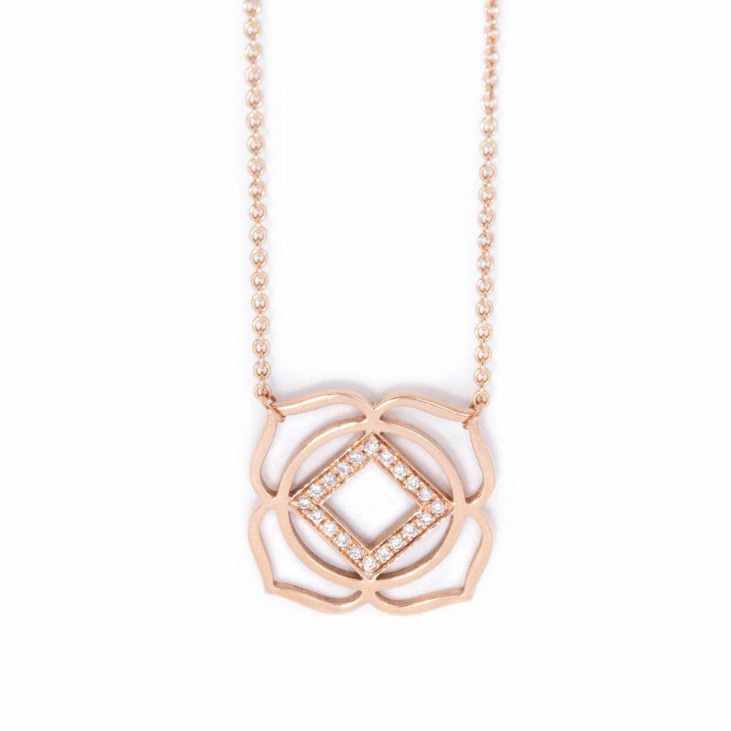 Muladhara Paved Diamonds Necklace by tinyOm