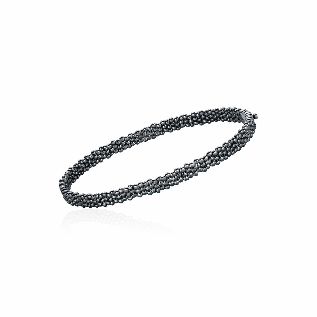 Skinny Bracelet in Black Gold by Julien Riad Sahyoun