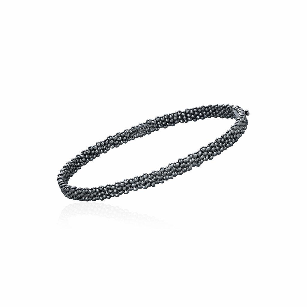 Skinny Bracelet in Black Gold by Julien Riad Sahyoun