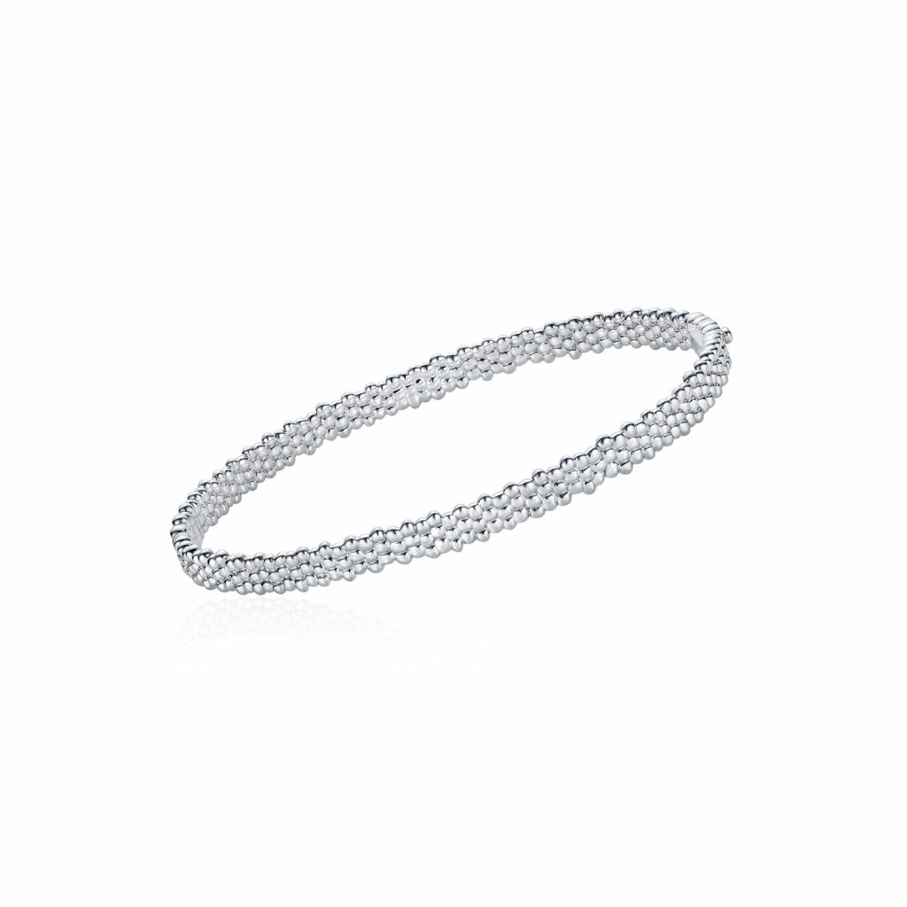 Skinny Bracelet in White Gold by Julien Riad Sahyoun