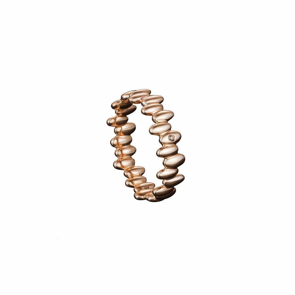 Skinny Ring in Rose Gold by Julien Riad Sahyoun