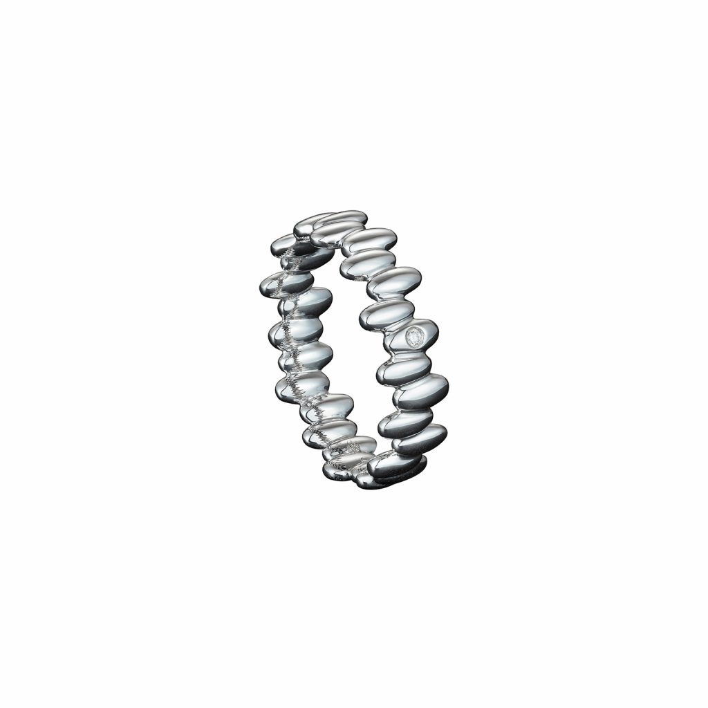 Skinny Ring in White Gold by Julien Riad Sahyoun