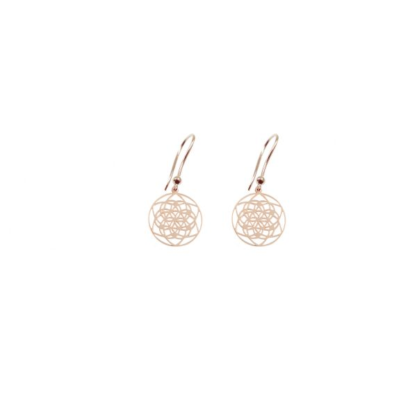 Tiny Flower of Life Earrings by tinyOm
