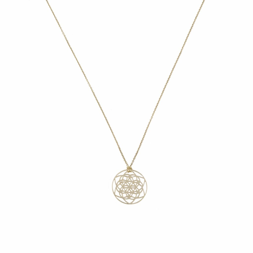 Tiny Flower of Life Necklace by tinyOm