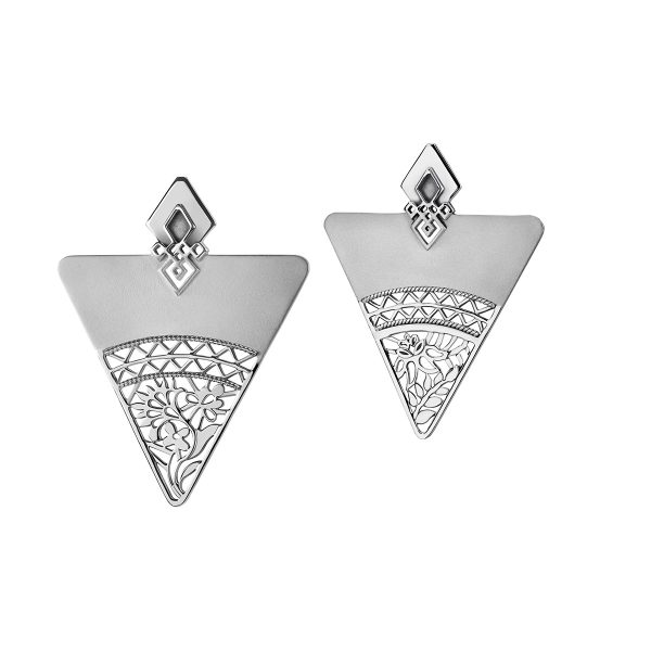 Fibula Earrings by Azza Fahmy