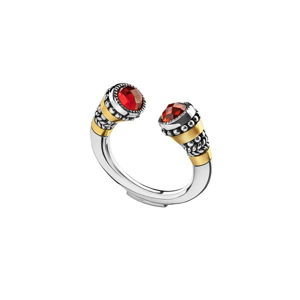 Stone Tiger Ring by Azza Fahmy