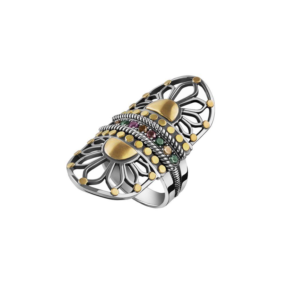 Tribal Stone Ring by Azza Fahmy