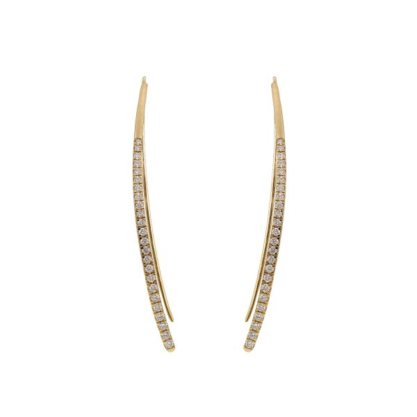 Harmonic Bowed Earrings by Sandy Leong