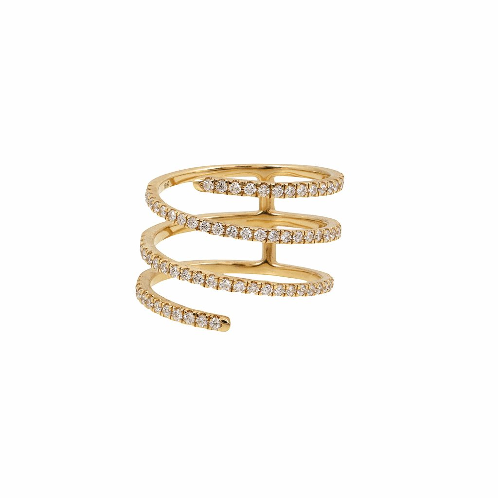 Harmonic Coil Ring by Sandy Leong