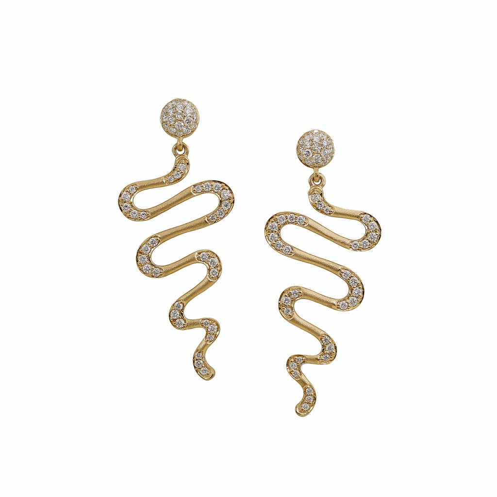 Harmonic Drop Earrings by Sandy Leong