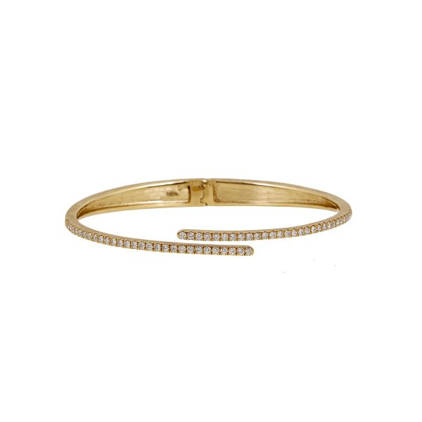 Harmonic Hinge Bangle by Sandy Leong