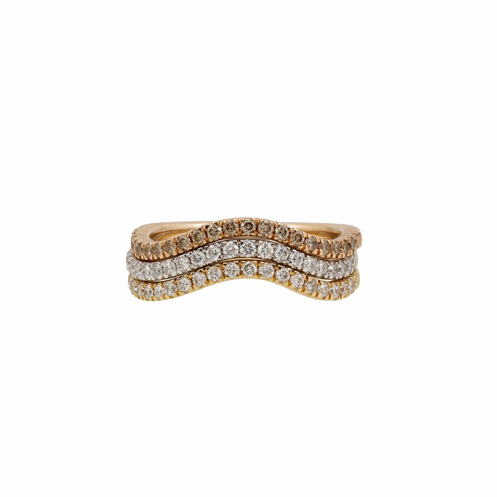 Harmonic Stackable Wave Ring by Sandy Leong