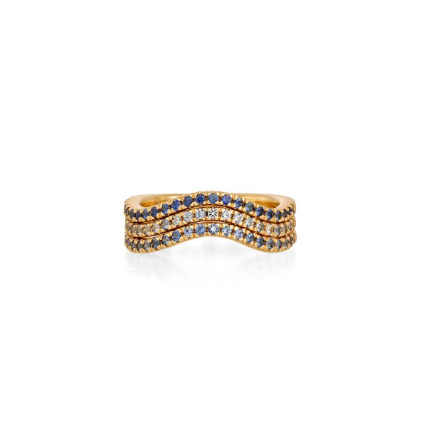 Ombre Sapphire Stack Rings by Sandy Leong