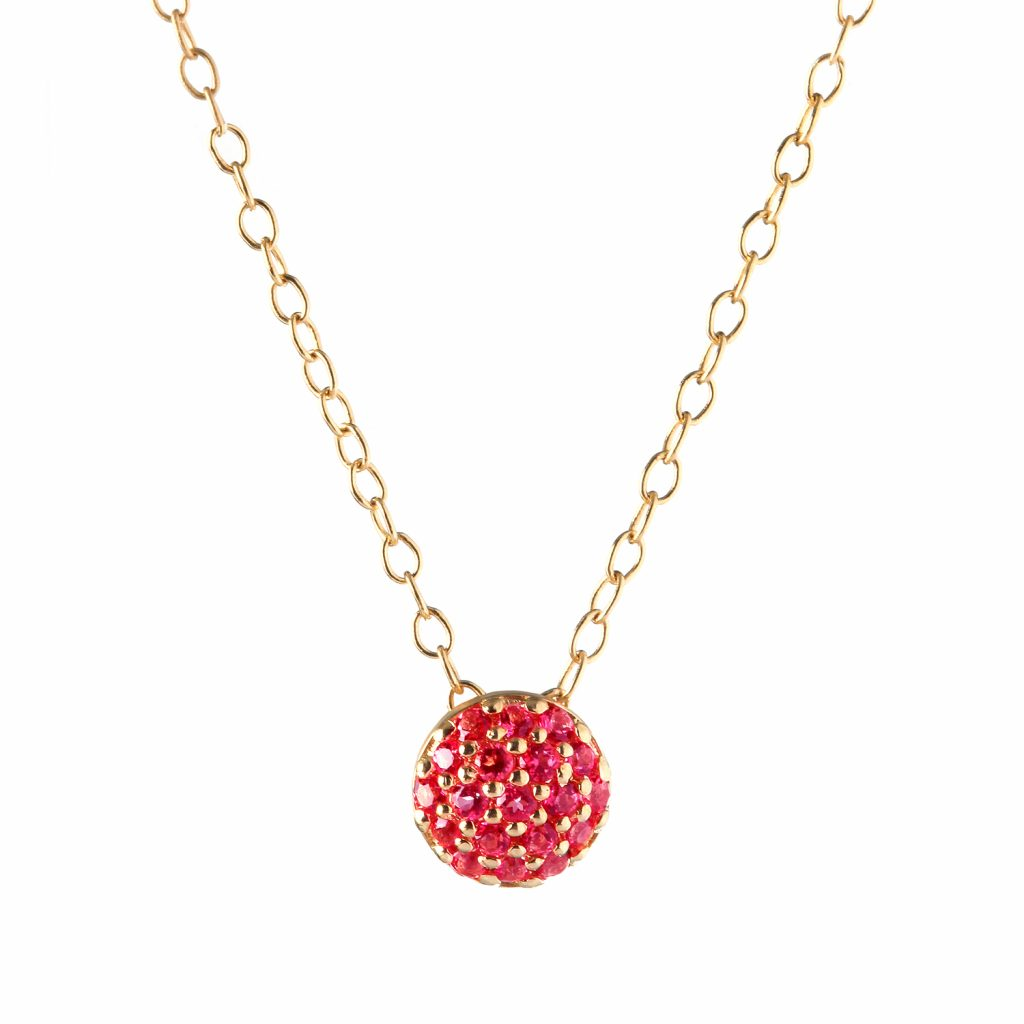 Ruby Dot Necklace by Sandy Leong