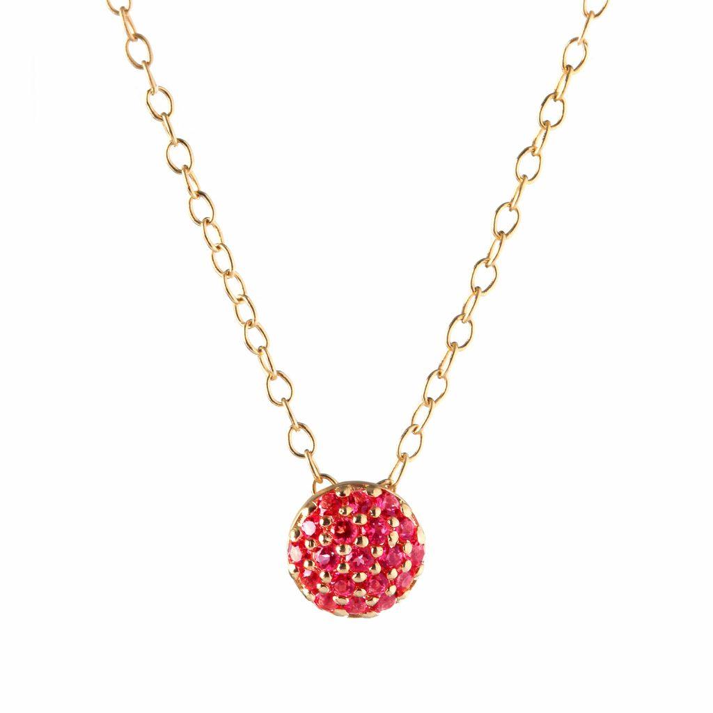 Ruby Dot Necklace by Sandy Leong
