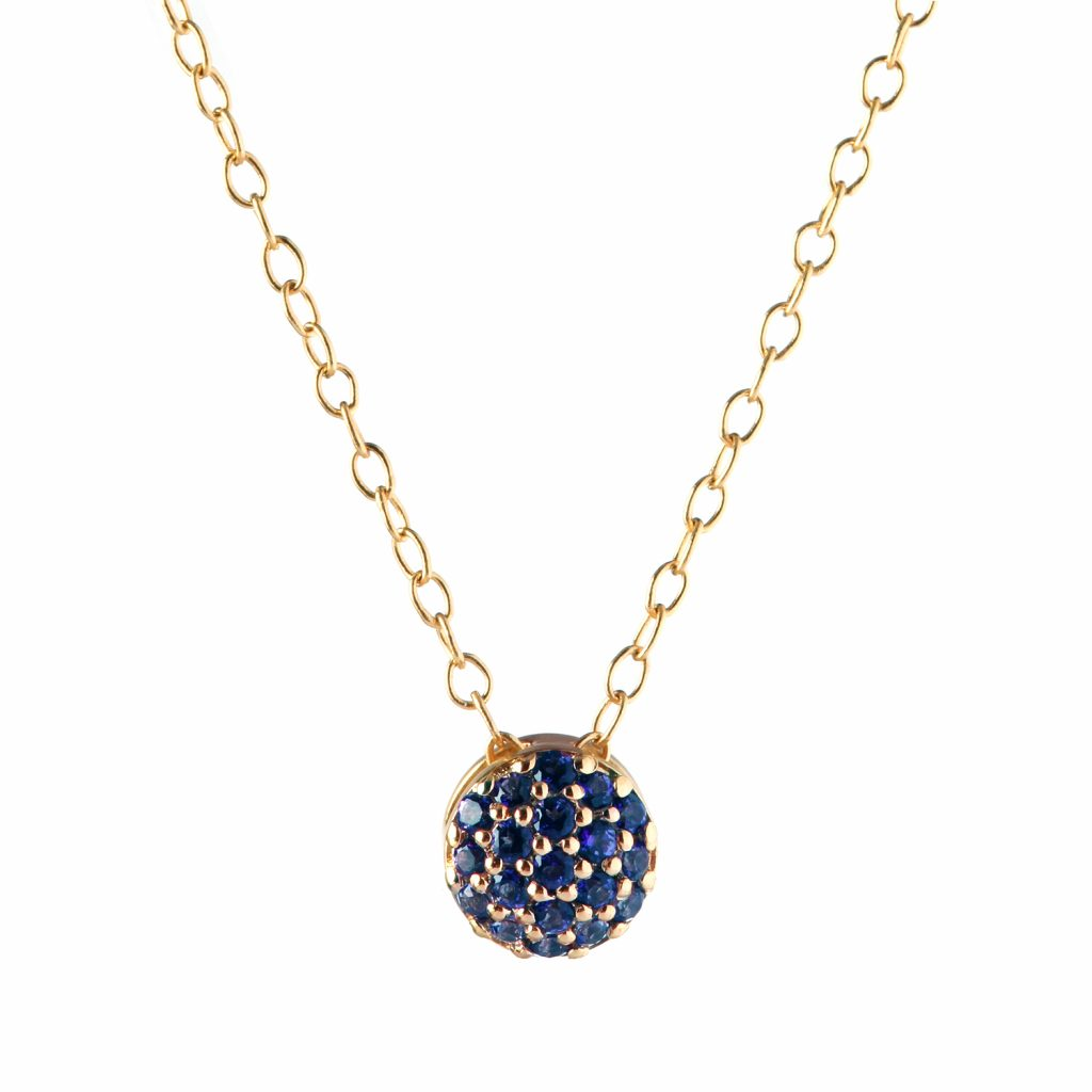 Sapphire Dot Necklace by Sandy Leong