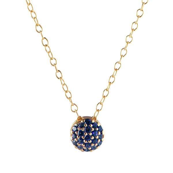 Sapphire Dot Necklace by Sandy Leong