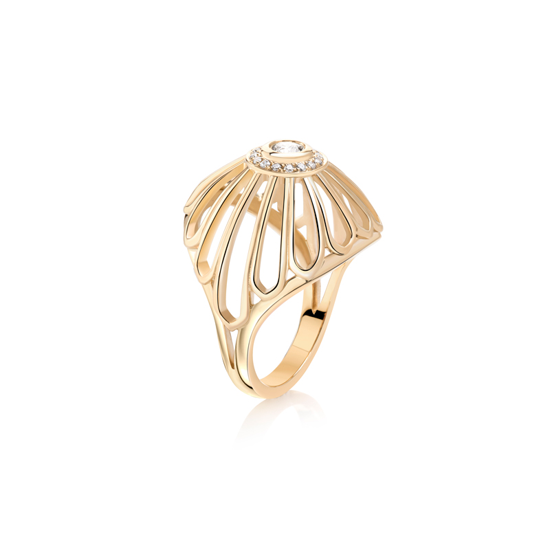 Diamond Dome Ring by Flora Bhattachary