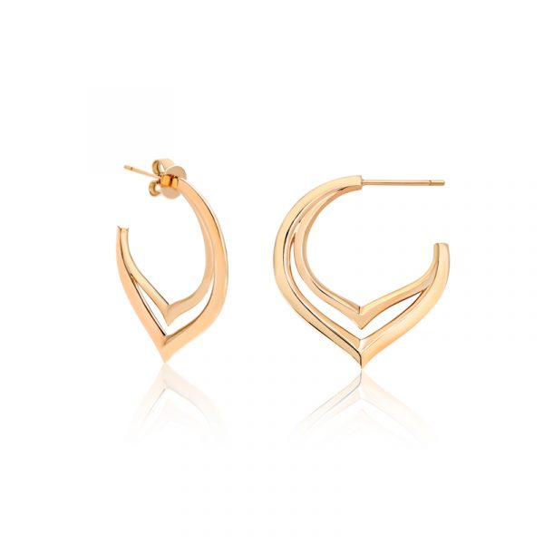 Split Hoop Earrings by Flora Bhattachary