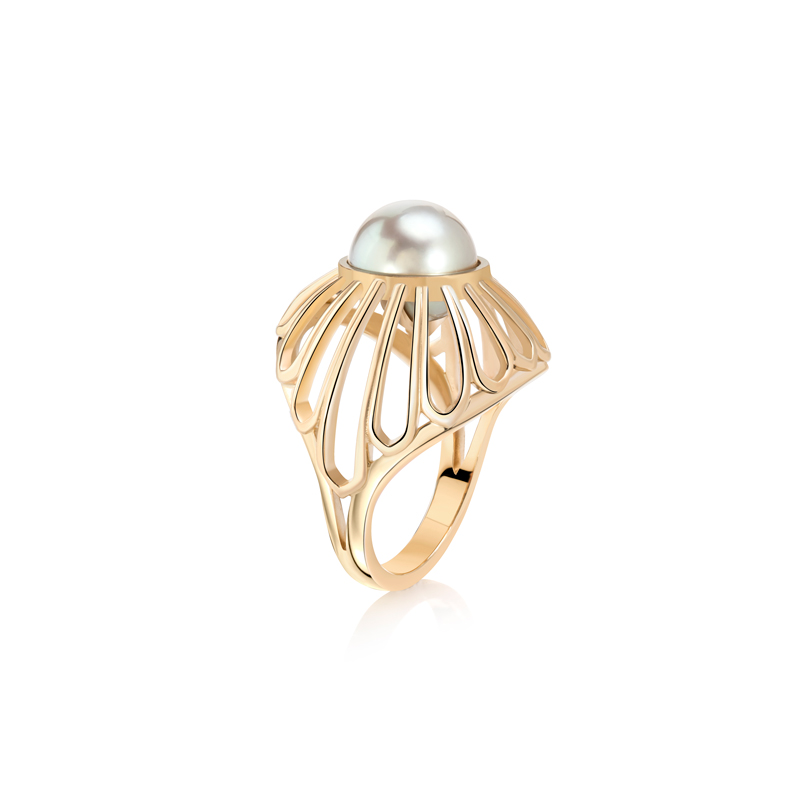 Tahitian Dome Ring by Flora Bhattachary