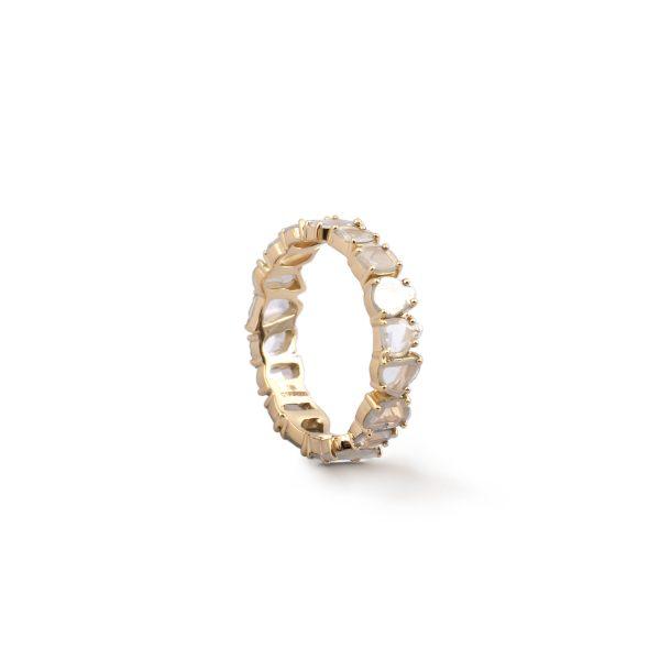 Ring Zero 5 – Diamonds in White Gold by IVAR by Ritika Ravi