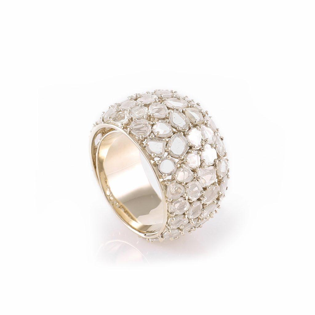 Ring Zero 3 – Diamonds in White Gold by IVAR by Ritika Ravi