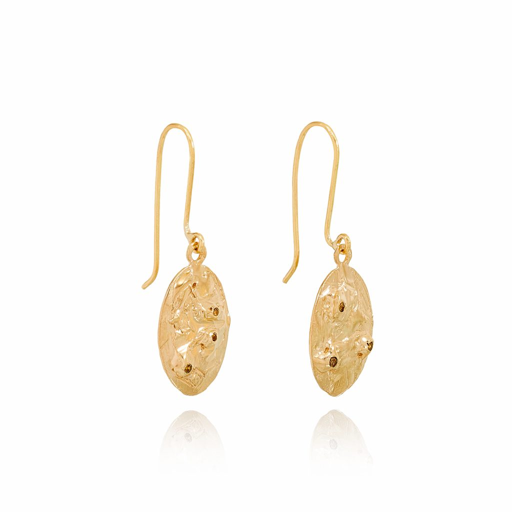 XXXII Diamond Drop Earrings by Ellis Mhairi Cameron