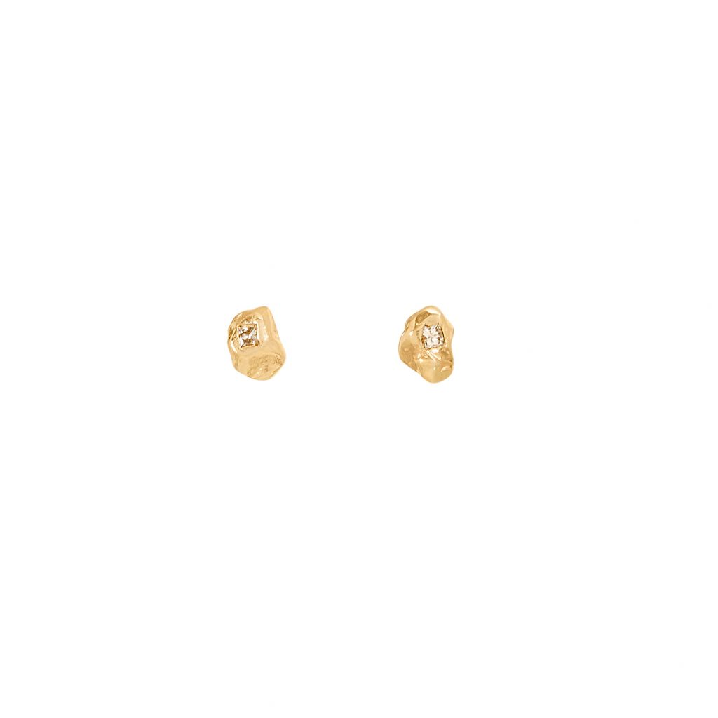XXIX Small Diamond Stud Earrings by Ellis Mhairi Cameron