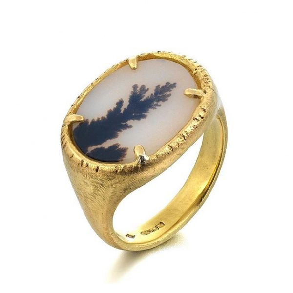 Dendritic Agate Ring by Sorrel Bay