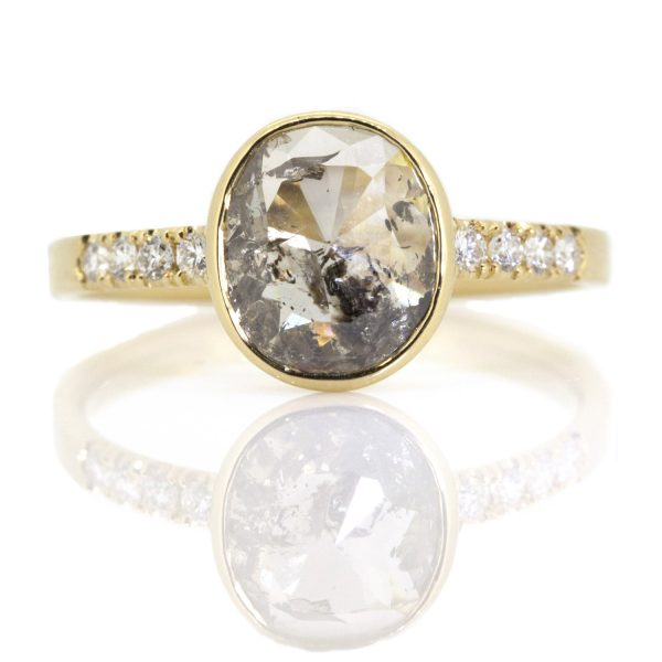 Oval Rose Cut Diamond Ring by Sorrel Bay